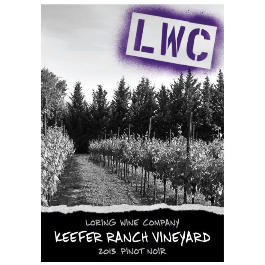 Loring Wine Company Keefer Ranch Vineyard Pinot Noir 2013 Front Label