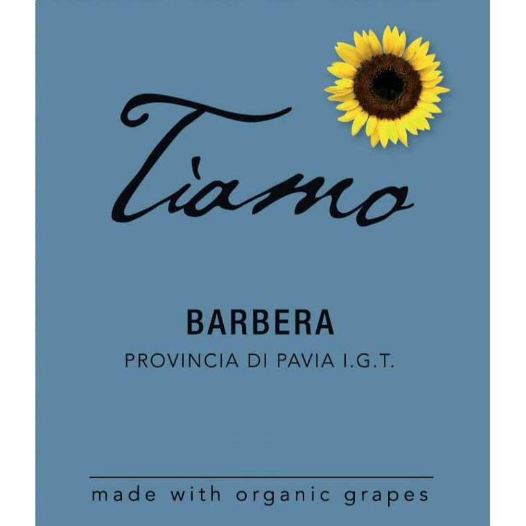 Tiamo Barbera 2014 Front Label