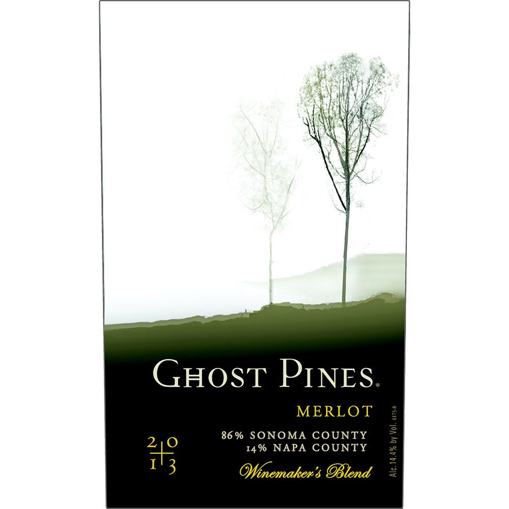 Ghost Pines Merlot 2013 Front Label