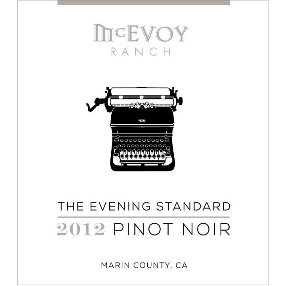 McEvoy Ranch The Evening Standard Pinot Noir 2012 Front Label