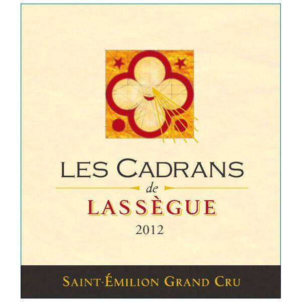 Chateau Lassegue Les Cadrans de Lassegue Grand Cru 2012 Front Label
