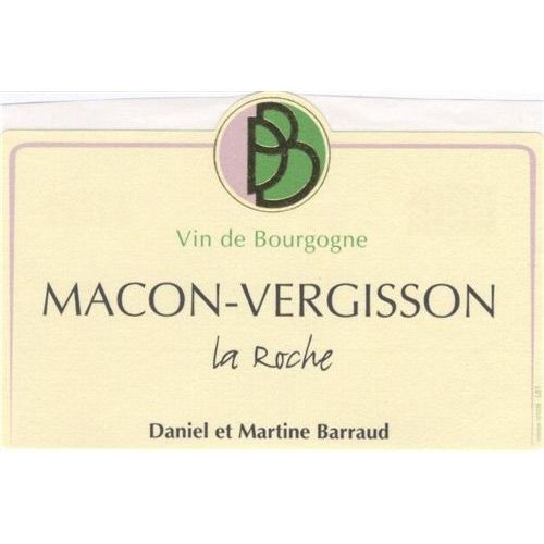 Daniel & Julien Barraud Macon-Vergisson La Roche 2013 Front Label