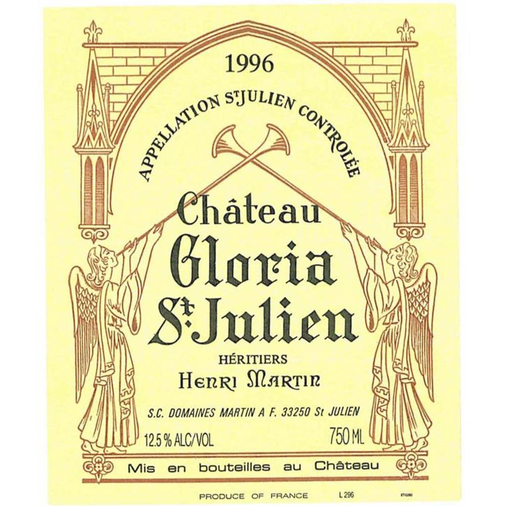 Chateau Gloria (bin soiled labels) 1996 Front Label
