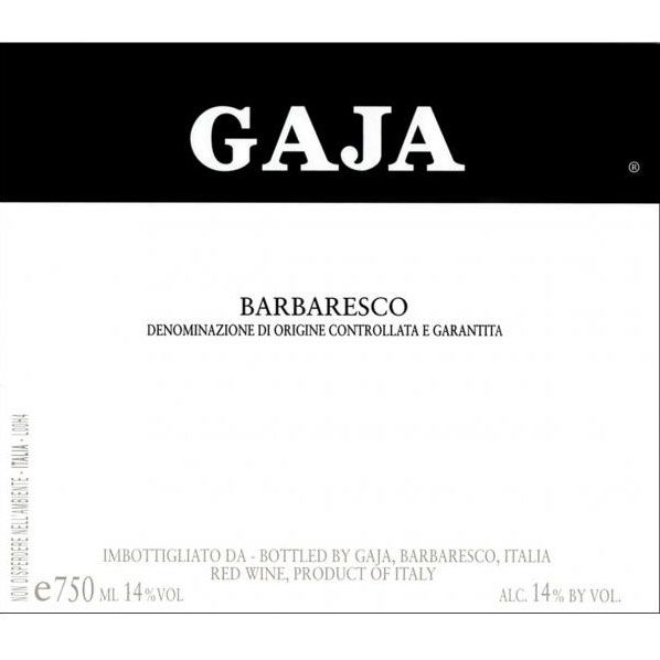 Gaja Barbaresco 2012 Front Label