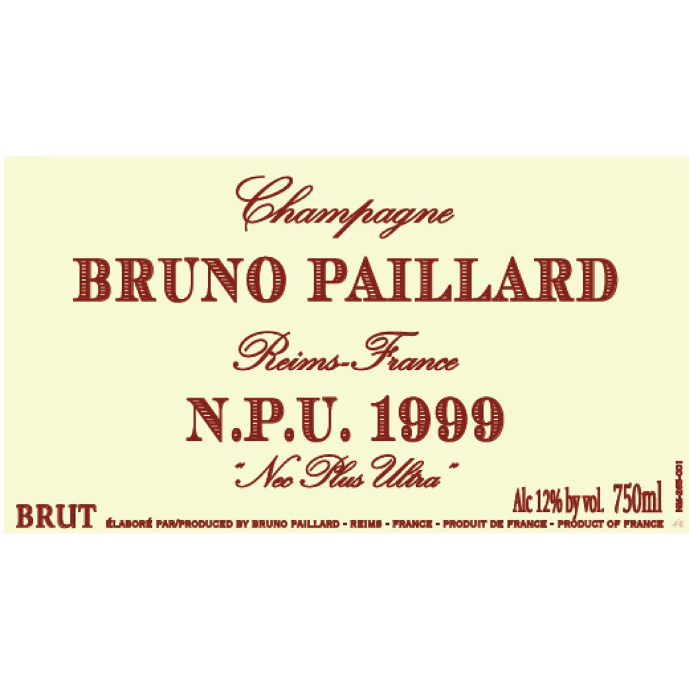 Bruno Paillard Nec Plus Ultra Brut 1999 Front Label