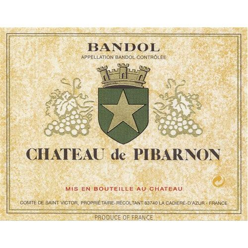 Chateau de Pibarnon Bandol Rouge (375ML half-bottle) 2012 Front Label