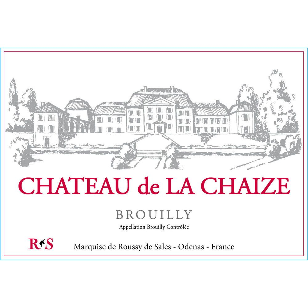 Chateau de la Chaize Brouilly 2012 Front Label