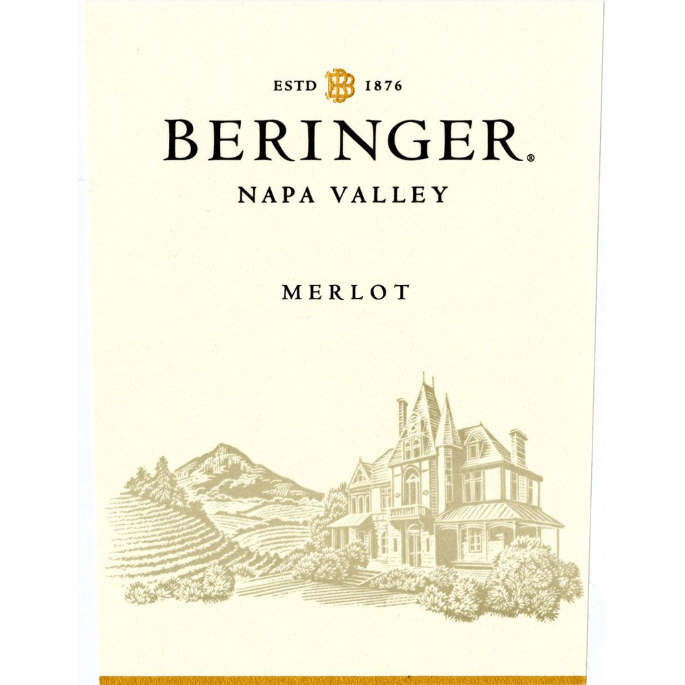 Beringer Napa Valley Merlot 2013 Front Label