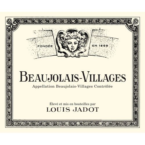 Louis Jadot Beaujolais Villages (375ML half-bottle) 2014 Front Label