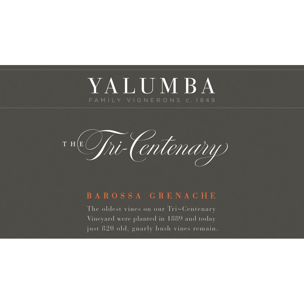 Yalumba Tri-Centenary Vineyard Grenache 2008 Front Label
