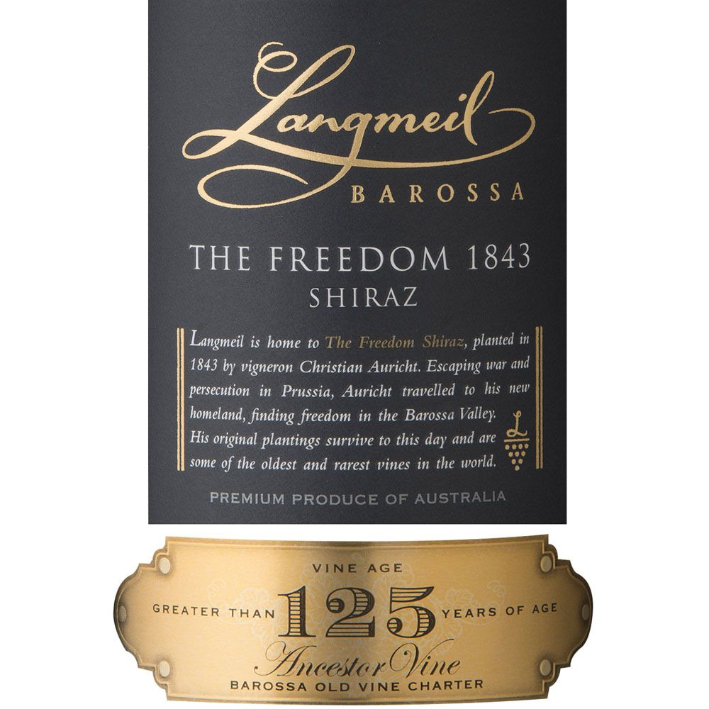 Langmeil The Freedom 1843 Shiraz 2013 Front Label