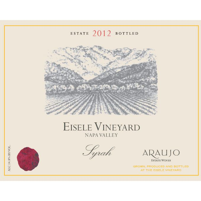 Araujo Eisele Vineyard Syrah 2012 Front Label