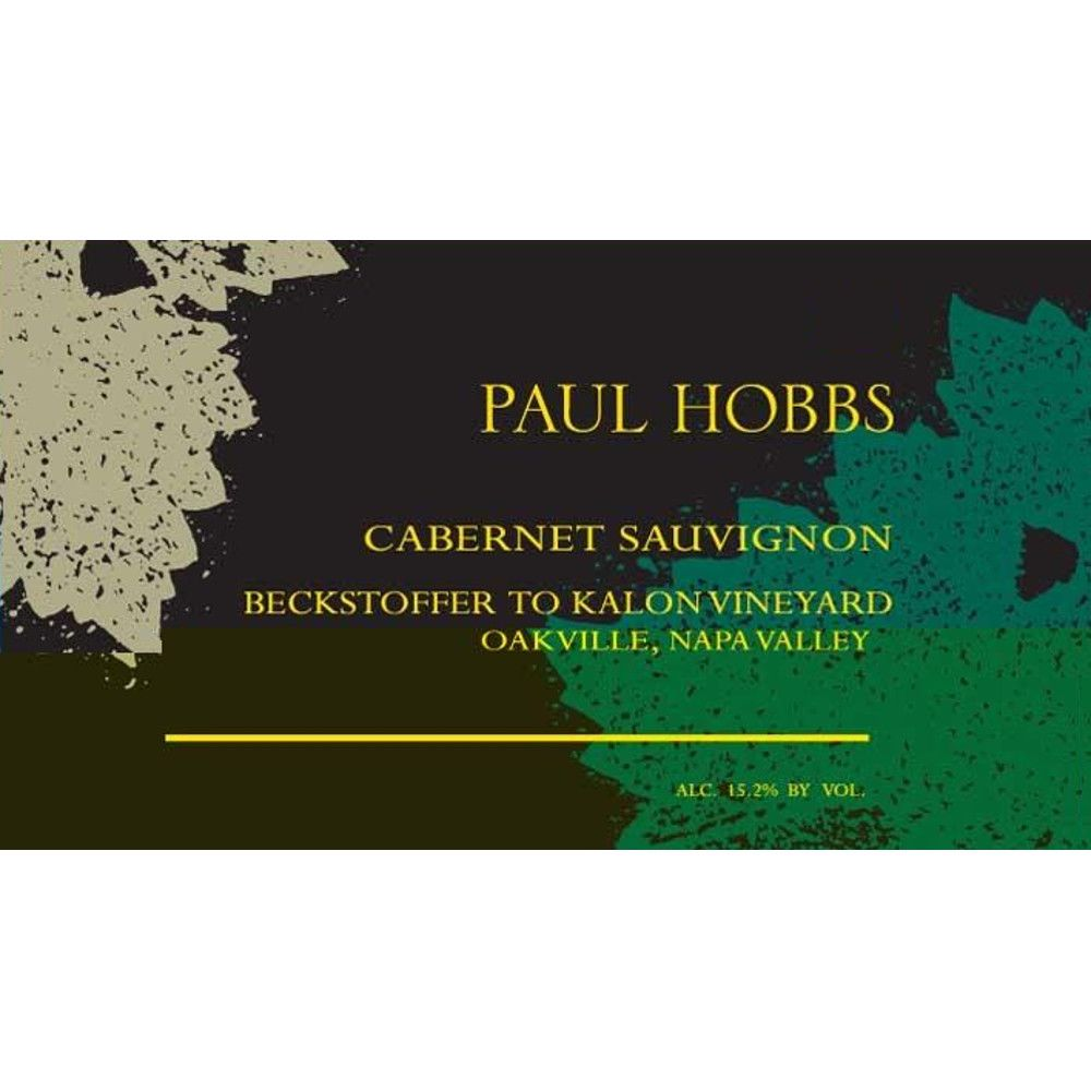 Paul Hobbs Beckstoffer To Kalon Vineyard Cabernet Sauvignon 2012 Front Label