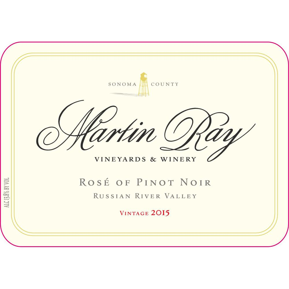 Martin Ray Rose of Pinot Noir 2015 Front Label
