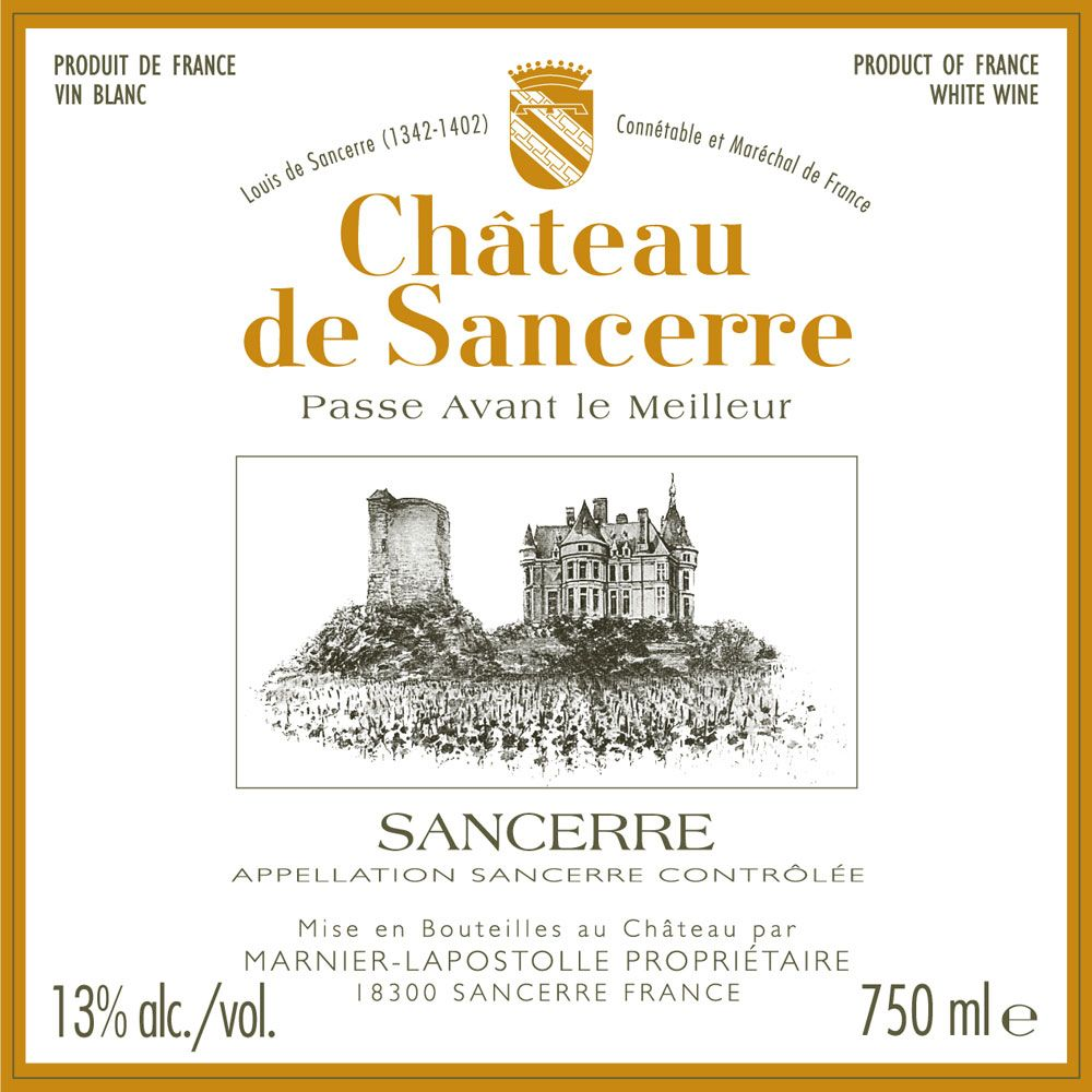 Chateau de Sancerre Blanc 2014 Front Label