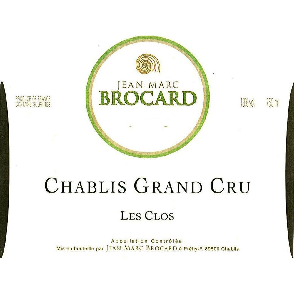 Brocard Les Clos Grand Cru Chablis 2013 Front Label