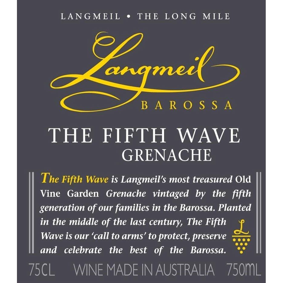 Langmeil The Fifth Wave Grenache 2013 Front Label