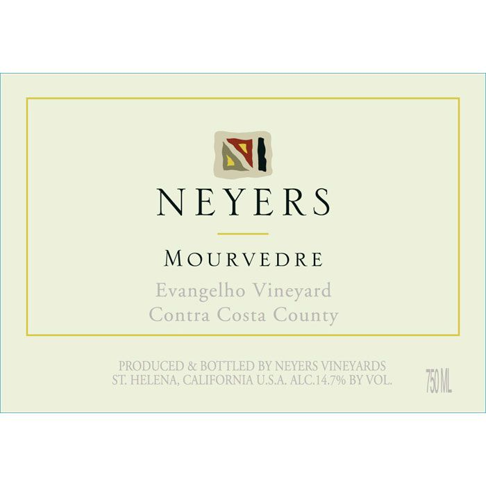 Neyers Evangelho Vineyard Mourvedre 2014 Front Label