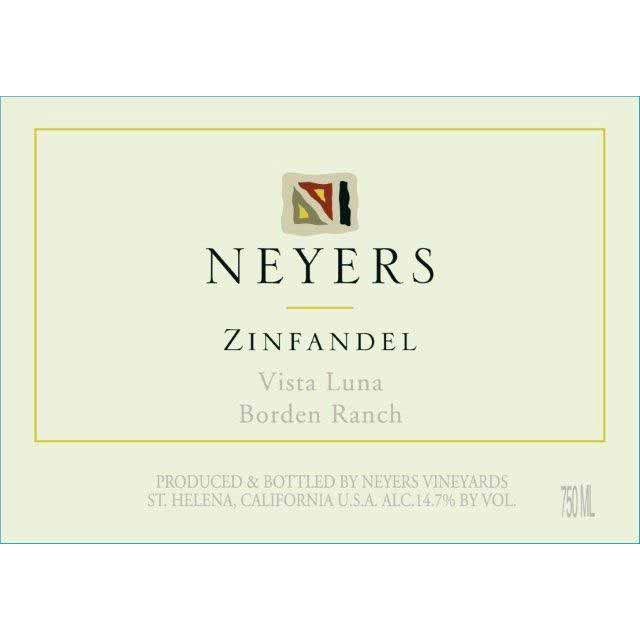 Neyers Vista Luna Zinfandel 2014 Front Label