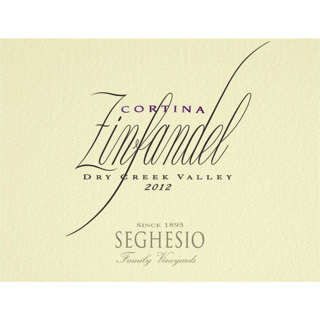 Seghesio Cortina Zinfandel 2012 Front Label