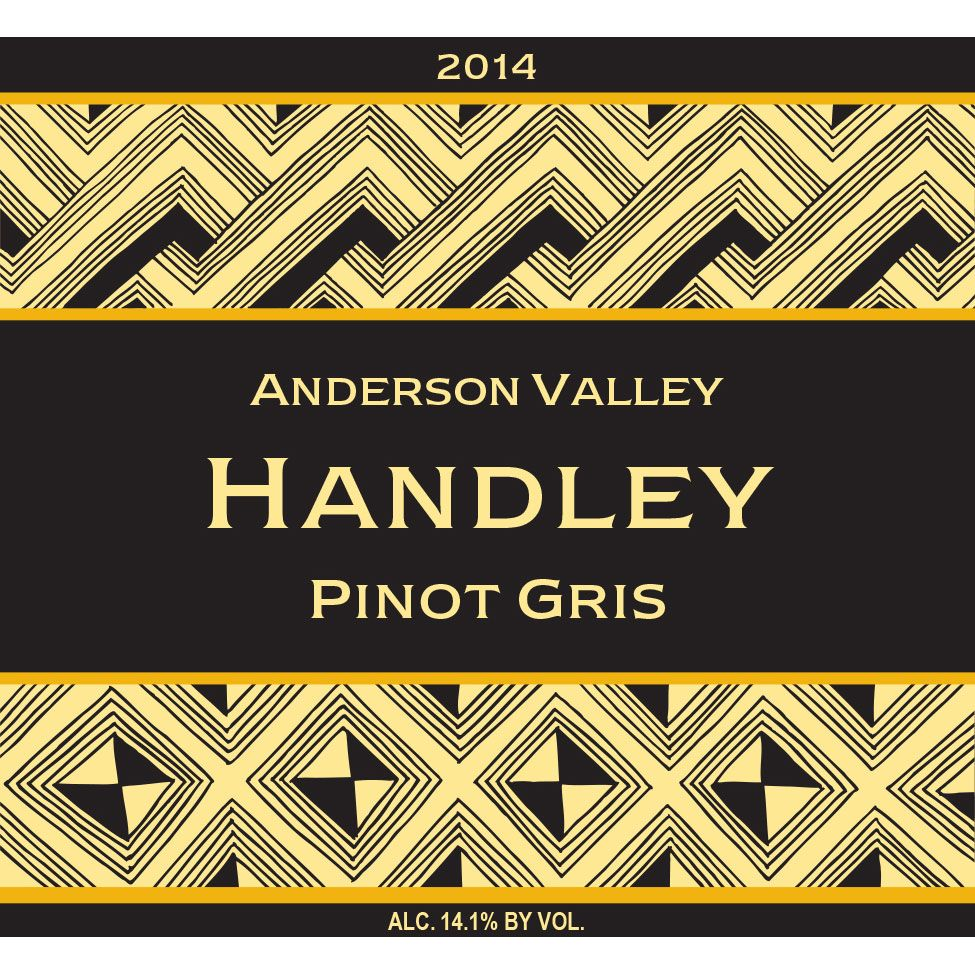 Handley Anderson Valley Pinot Gris 2014 Front Label
