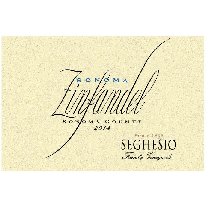 Seghesio Sonoma Zinfandel (375ML half-bottle) 2014 Front Label