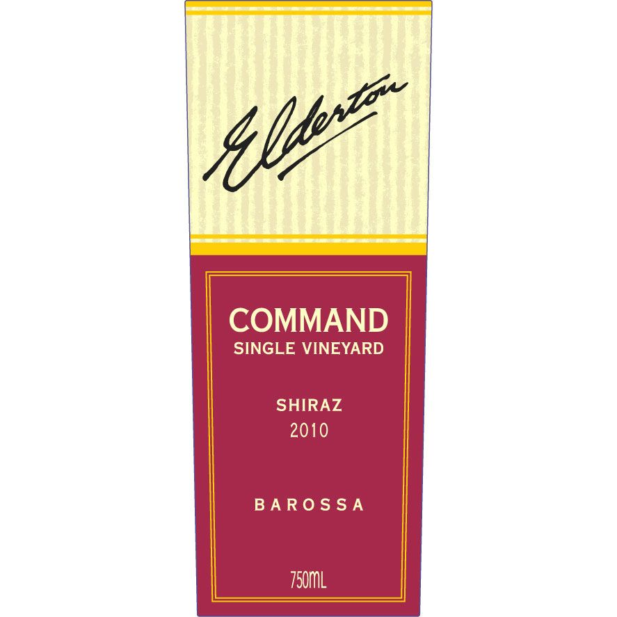 Elderton Command Shiraz 2010 Front Label