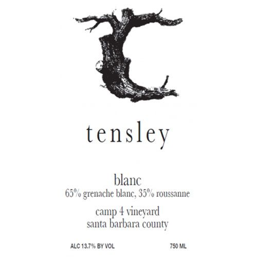 Tensley Blanc 2014 Front Label