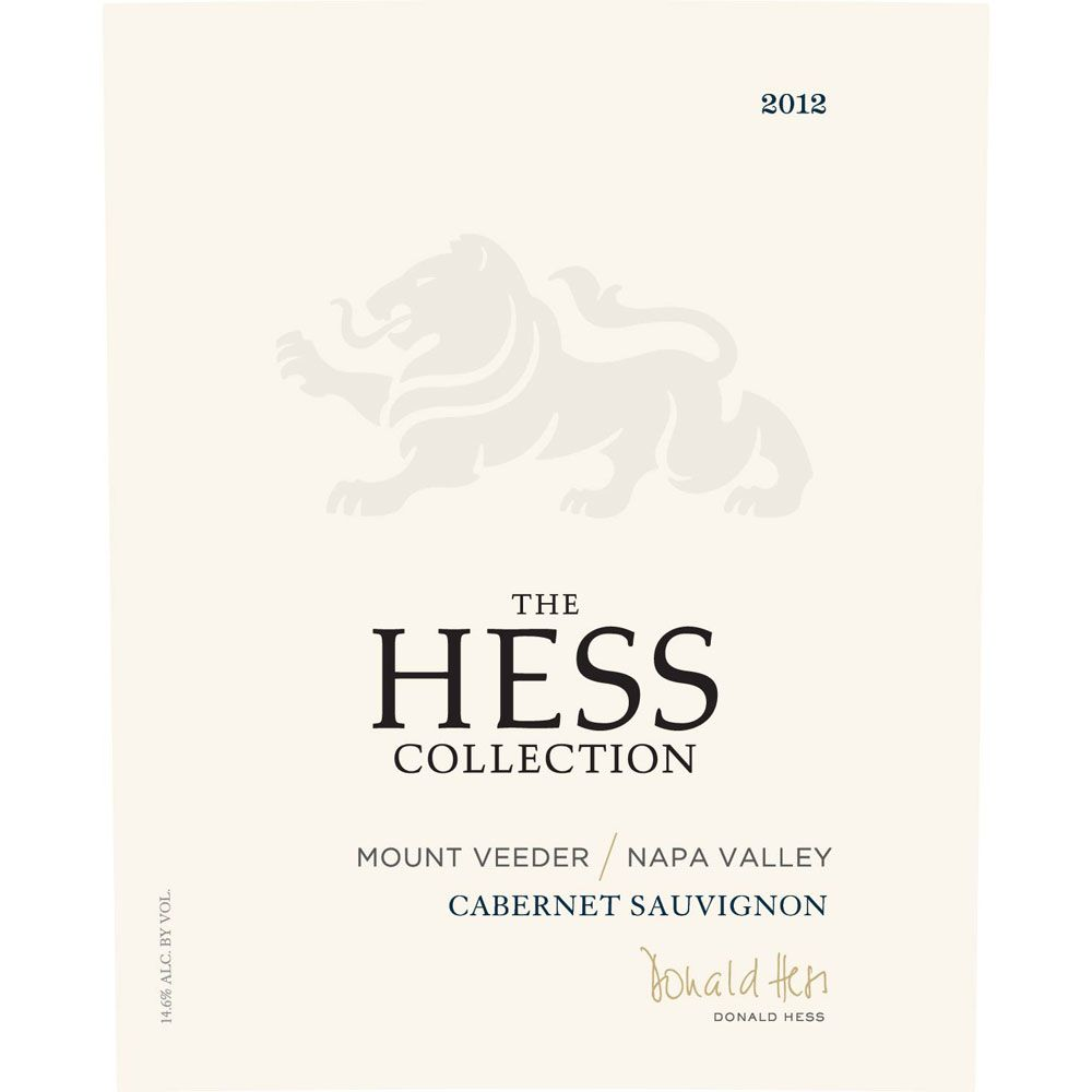Hess Collection Mount Veeder Cabernet Sauvignon 2012 Front Label