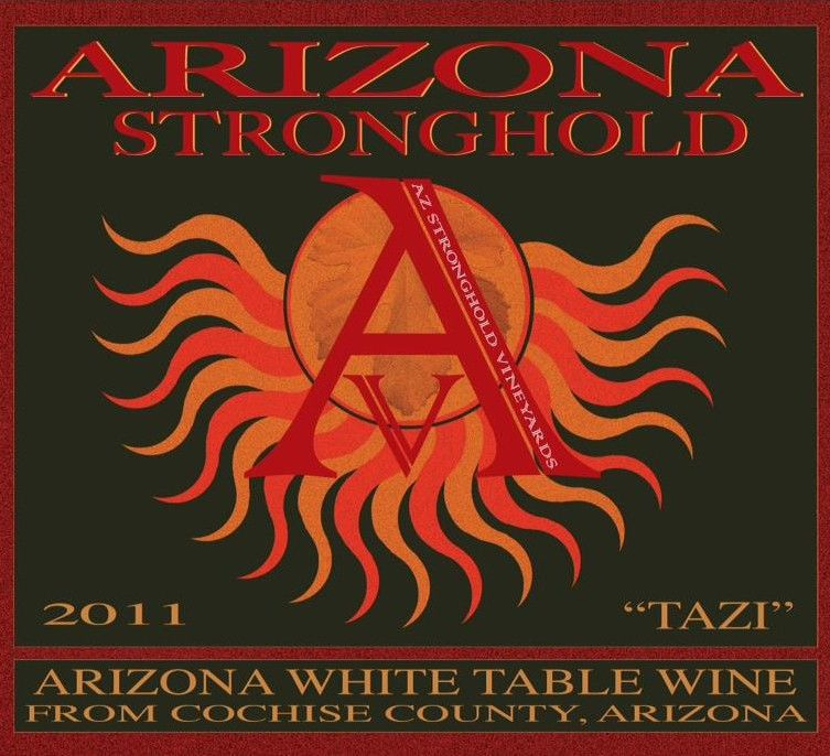Arizona Stronghold  Tazi 2011 Front Label