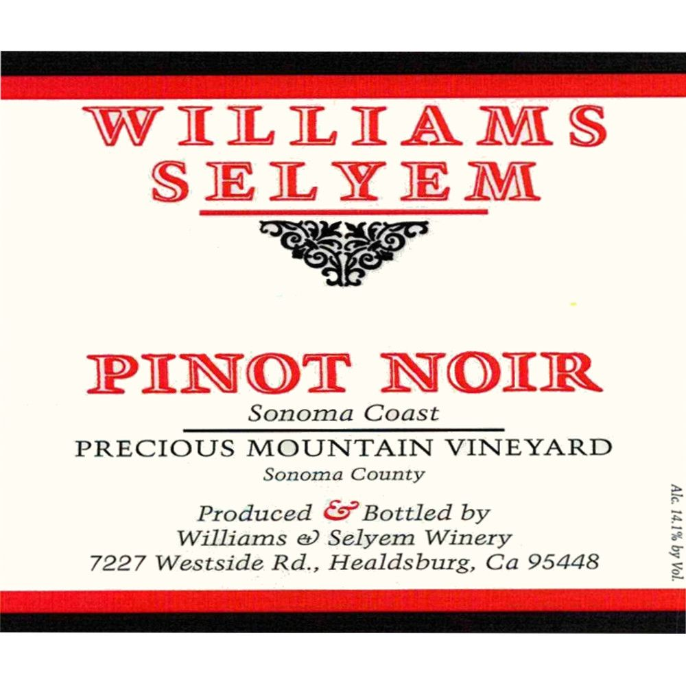Williams Selyem Precious Mountain Pinot Noir (1.5L Magnum) 2013 Front Label