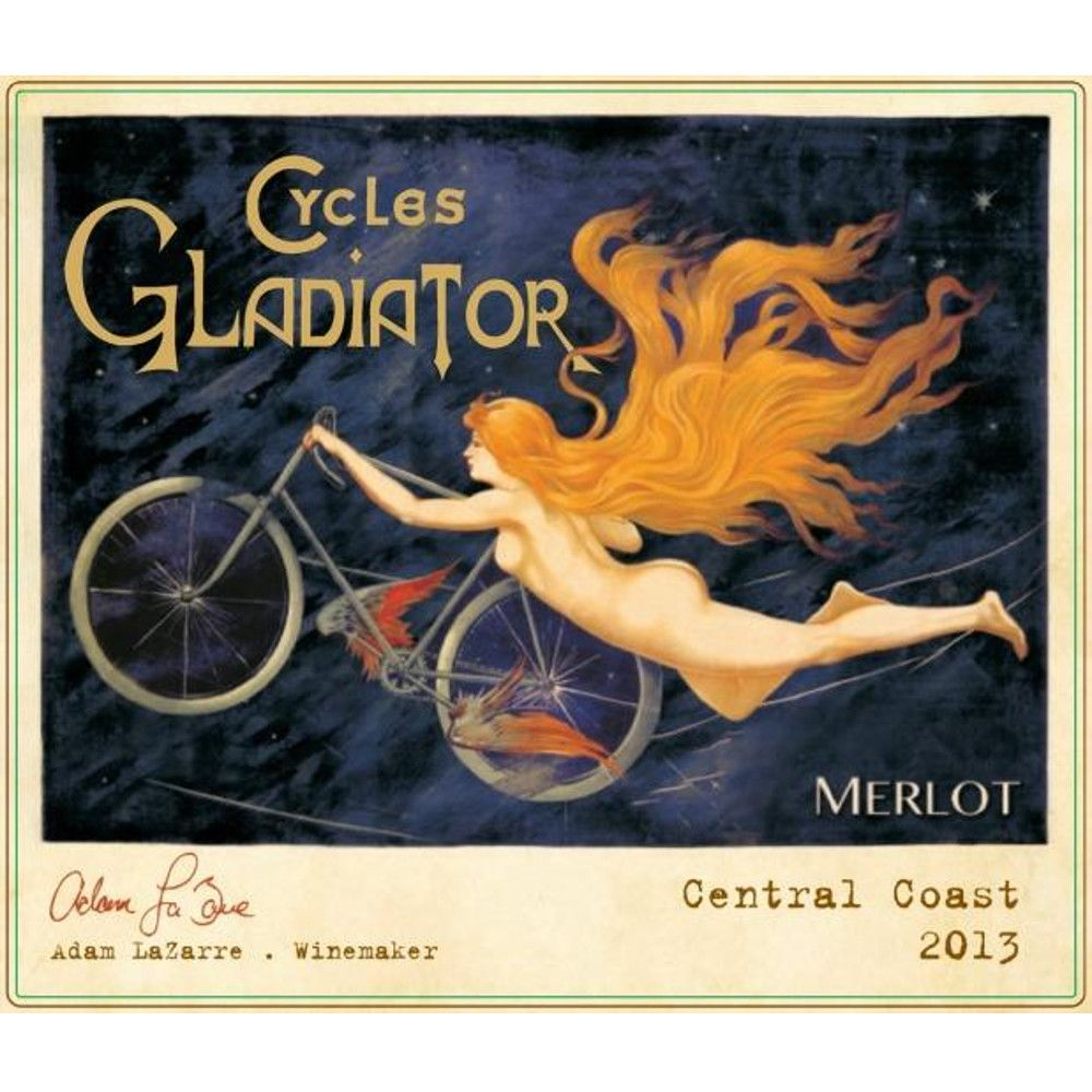 Cycles Gladiator Merlot 2013 Front Label