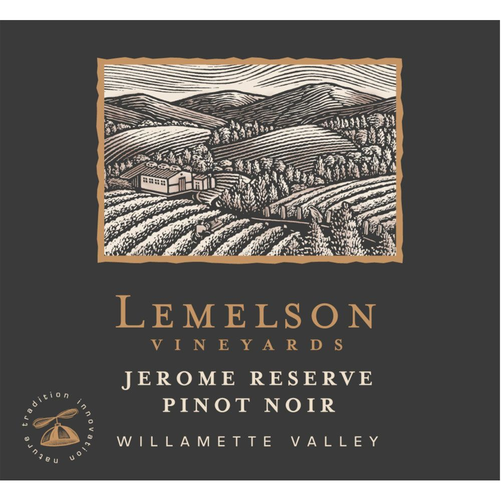 Lemelson Jerome Reserve Pinot Noir 2012 Front Label