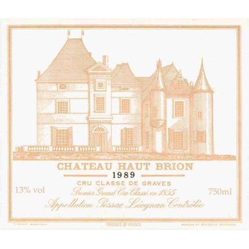 Chateau Haut-Brion  1989 Front Label