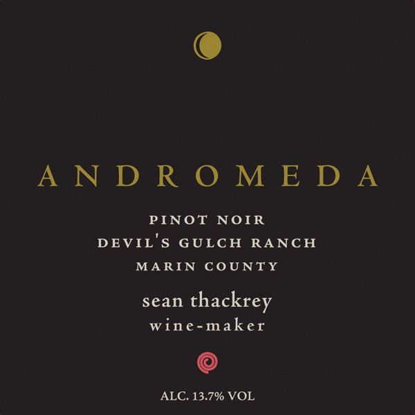 Sean Thackrey Andromeda Pinot Noir 2013 Front Label