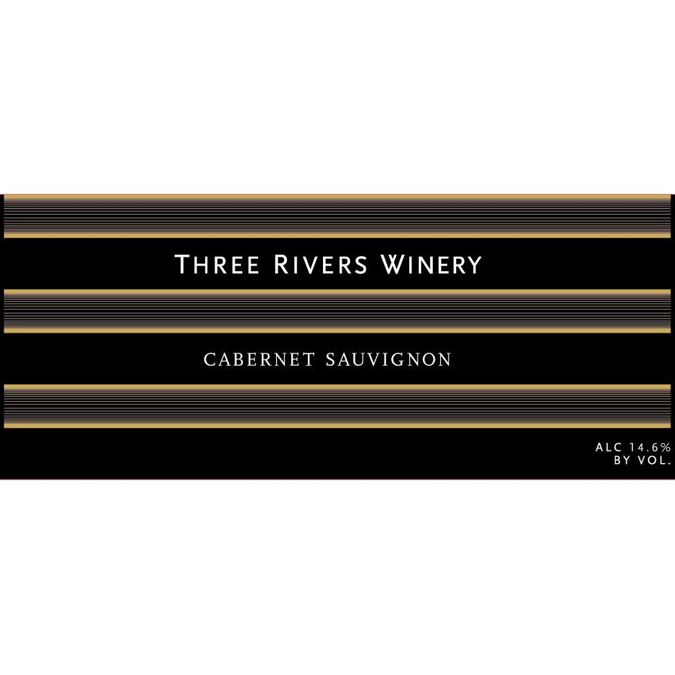 Three Rivers Columbia Valley Cabernet Sauvignon 2013 Front Label