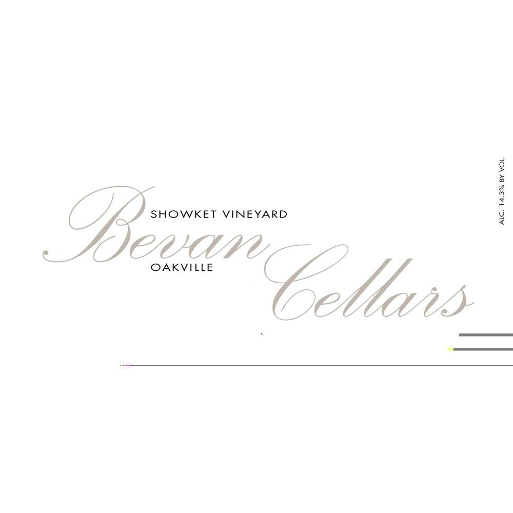 Bevan Cellars Showket Vineyard Red 2007 Front Label