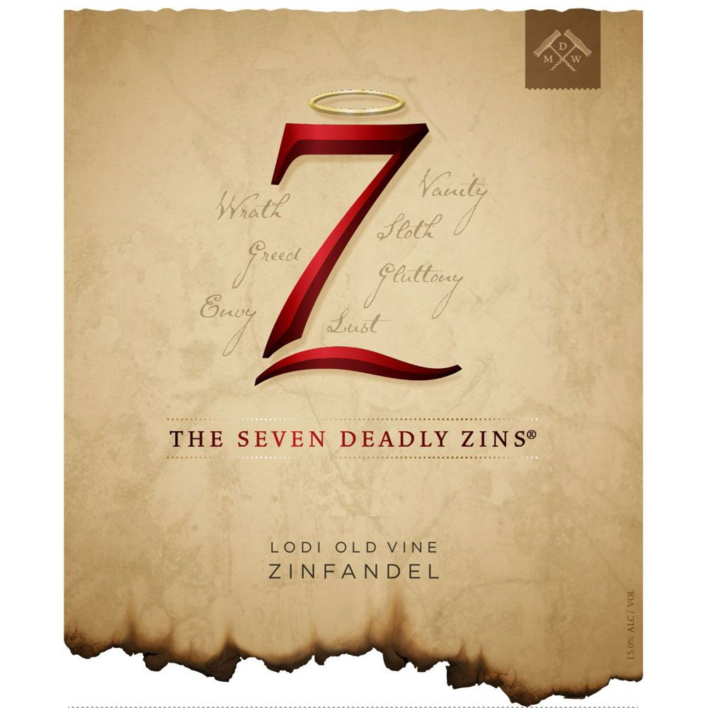 Michael David Winery 7 Deadly Zins Zinfandel 2013 Front Label