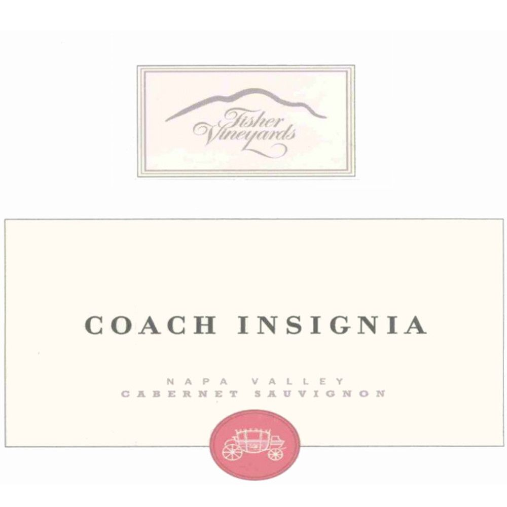 Fisher Vineyards Coach Insignia Cabernet Sauvignon (stained label) 2004 Front Label