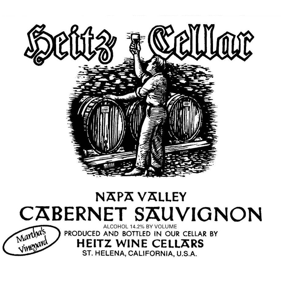 Heitz Cellar Martha's Vineyard Cabernet Sauvignon 2010 Front Label