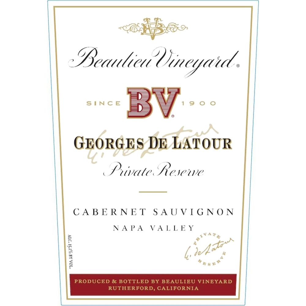 Beaulieu Vineyard Georges de Latour Private Reserve 2012 Front Label