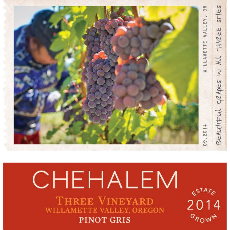 Chehalem 3 Vineyard Pinot Gris 2014 Front Label