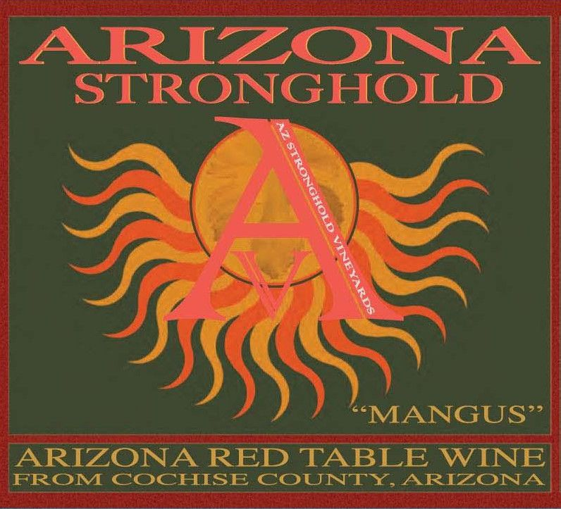 Arizona Stronghold Mangus Red 2010 Front Label