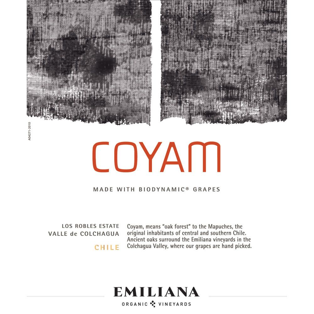 Emiliana Coyam (Certified Biodynamic) 2012 Front Label