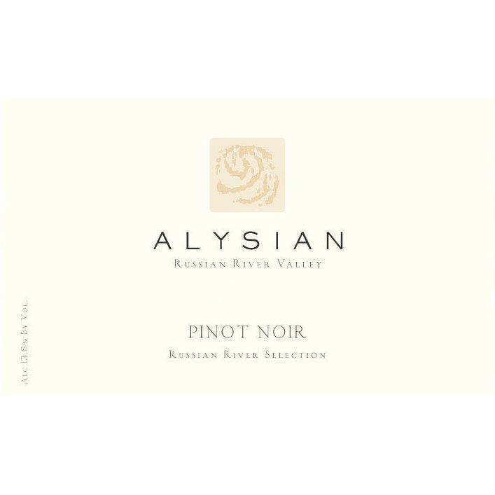 Alysian Russian River Selection Pinot Noir 2012 Front Label