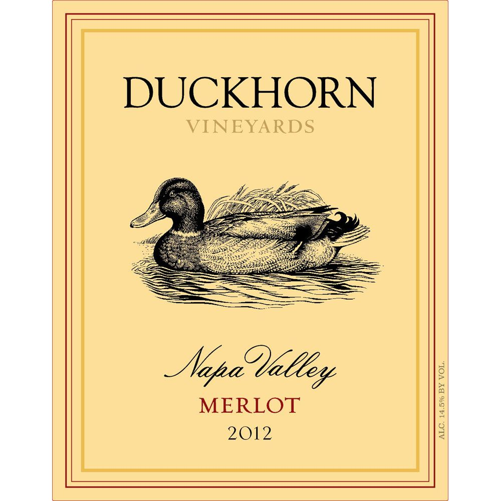 Duckhorn Napa Valley Merlot (3 Liter Bottle) 2012 Front Label