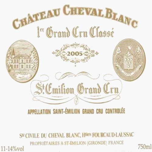Chateau Cheval Blanc (1.5 Liter Magnum) 2005 Front Label