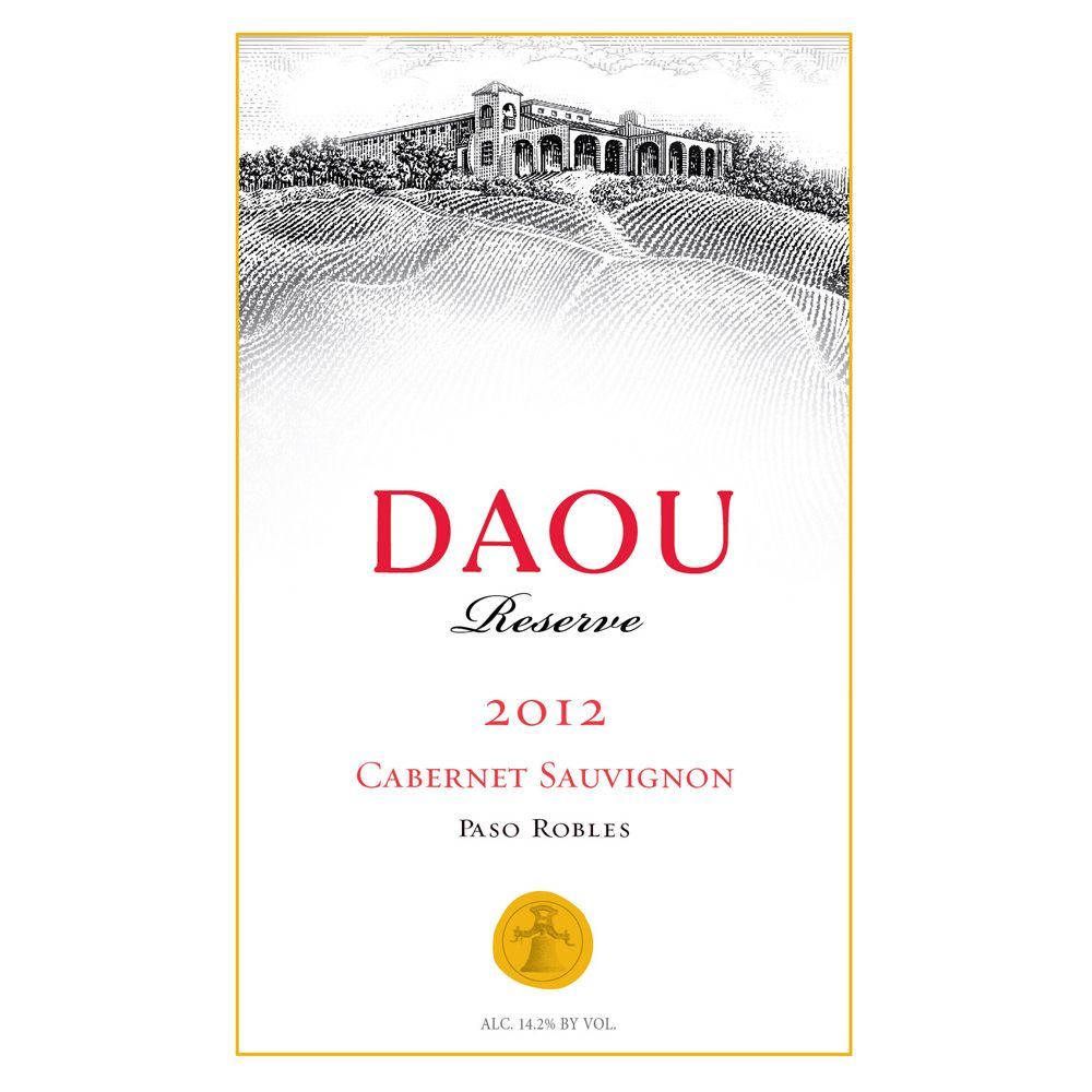 DAOU Vineyards Reserve Cabernet Sauvignon (3 Liter Bottle) 2012 Front Label