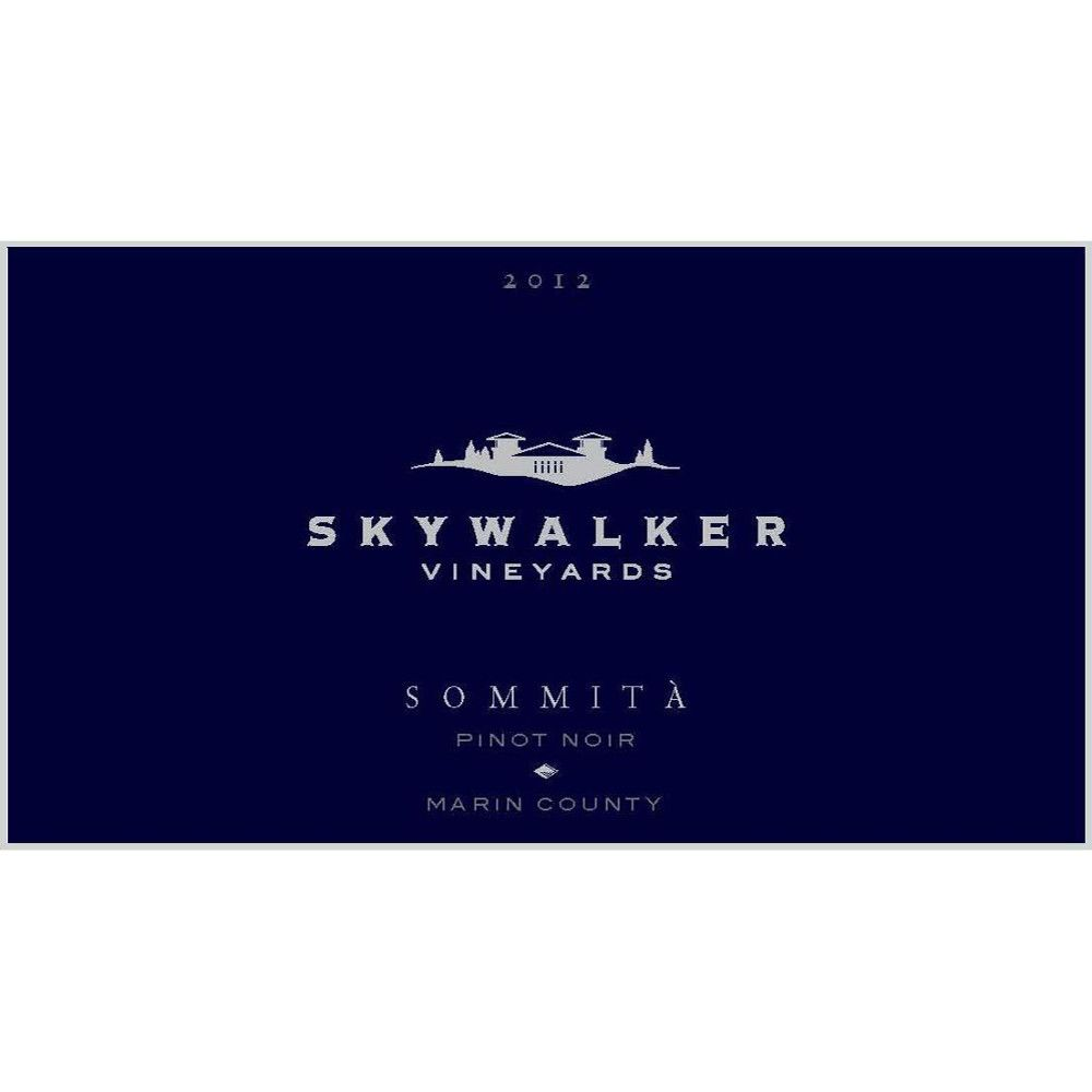 Skywalker Vineyards Sommita Pinot Noir 2012 Front Label
