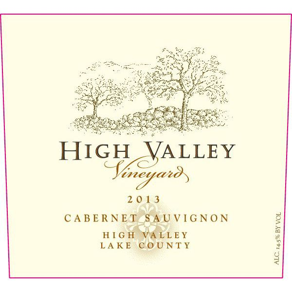 High Valley Vineyards Cabernet Sauvignon 2013 Front Label